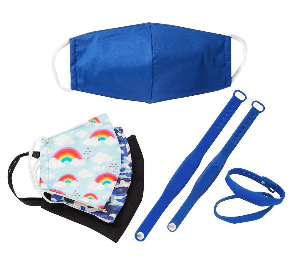 Image 251181_BLU.jpg , Product 251-181 / Price $79.99 , Sanitizer Bracelet and Mask Bundle (4-Pack)  on TSC.ca's Beauty department