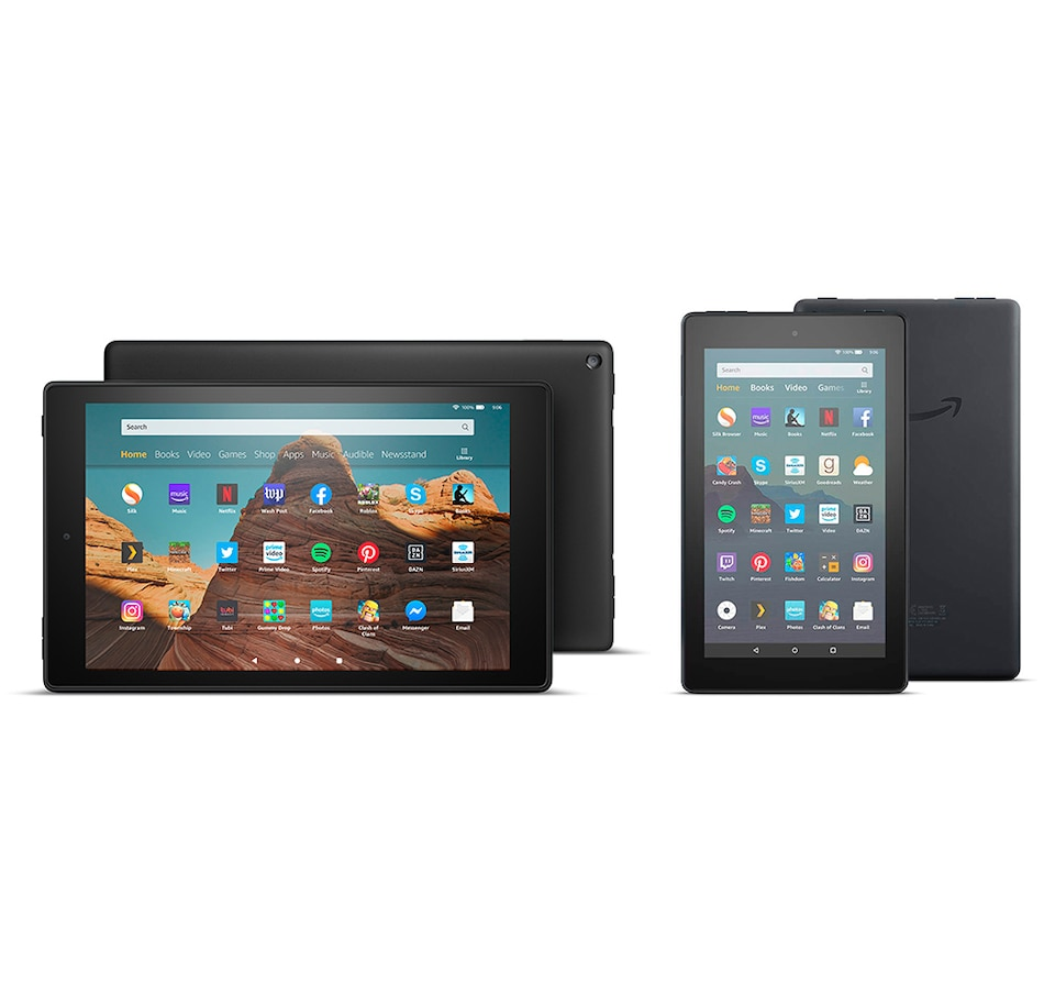 "Image 251216_BBC.jpg , Product 251-216 / Price $329.99 , Amazon Fire HD 10"" 64GB with Free Amazon Fire 7"" 16GB plus Apps and Content from Amazon on TSC.ca's Electronics department"