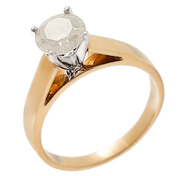 Jewel of a Deal 14K Yellow Gold 1.00ctw White Diamond Solitaire Ring