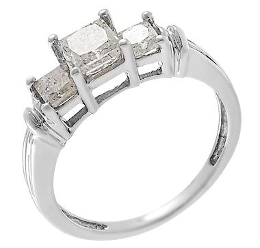 Jewel of a Deal 14K White Gold 1.50ctw White Diamond Ring