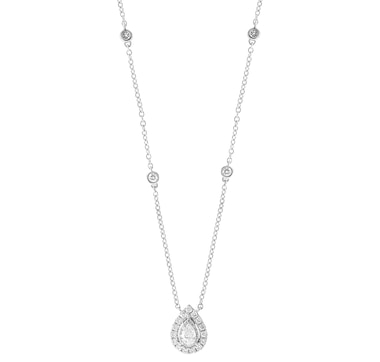 Jewel of a Deal 14K White Gold Diamond Necklace