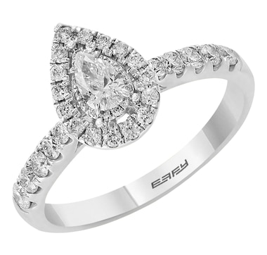 Jewel of a Deal 14K White Gold Diamond Ring