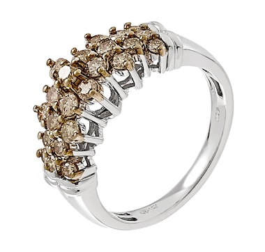 Jewel of a Deal 10K Gold 1.00ctw Champagne Diamond Ring