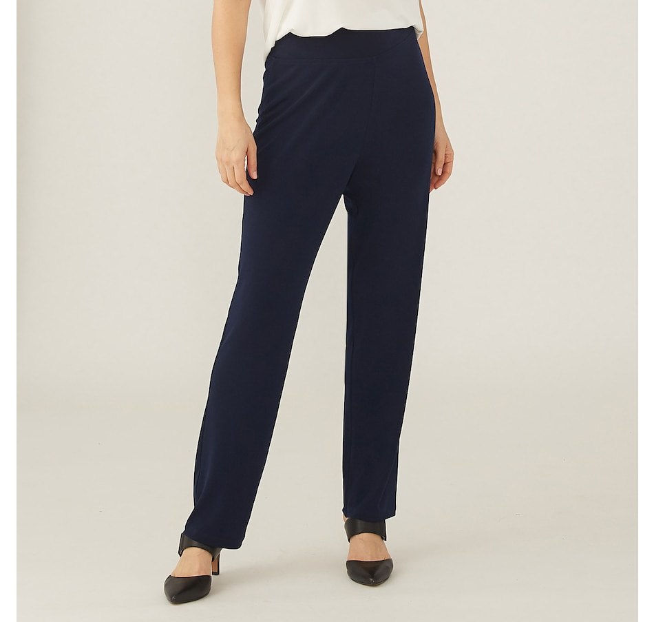 Image 371640_NVY.jpg , Product 371-640 / Price $59.99 , Kim & Co. Brazil Knit Comfort Narrow Leg Pant from Kim & Co. on TSC.ca's Clothing & Shoes department