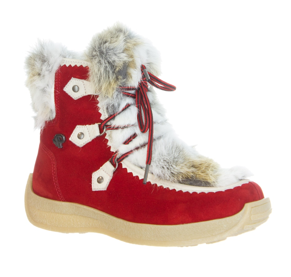 Image 401346_RED.jpg , Product 401-346 / Price $229.33 , Pajar Footwear Ladies Suzie Suede Boot with Fur Trim from Pajar - Women on TSC.ca's Shoes & Handbags department