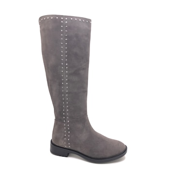 8dfdb9c1634 Natural Comfort by Steve Madden Zoe S…uede Riding Boot with Stud Detailing
