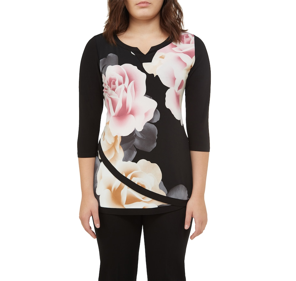 Image 401515_RSF.jpg , Product 401-515 / Price $39.88 , ALIA N TanJay 3/4 Sleeve Layered Front Tunic from Alia N TanJay on TSC.ca's Fashion department