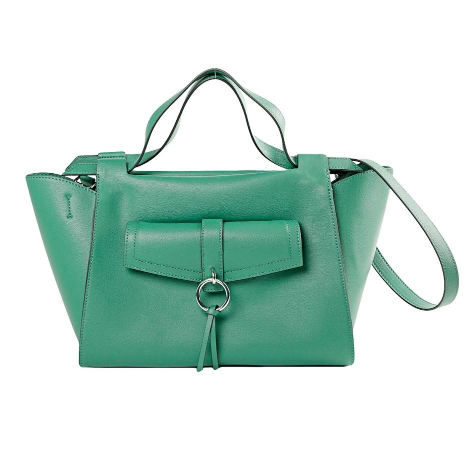 Image 401678_GRN.jpg , Product 401-678 / Price $79.33 , Danielle Nicole Kat Leather Satchel from Danielle Nicole Handbags on TSC.ca's Shoes & Handbags department