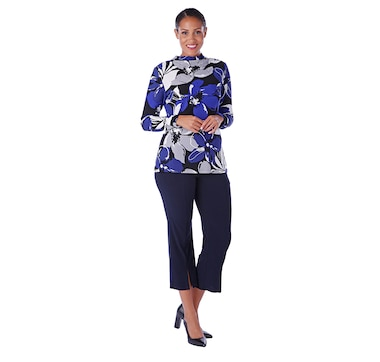 ebd716ec7457fc Product 401-765 / Price $49.88 , Marallis Ruched Mock Neck Top From  Marallis on