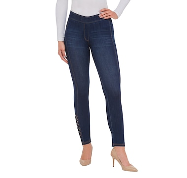 Nygard Ankle Pant with Lattice Detail