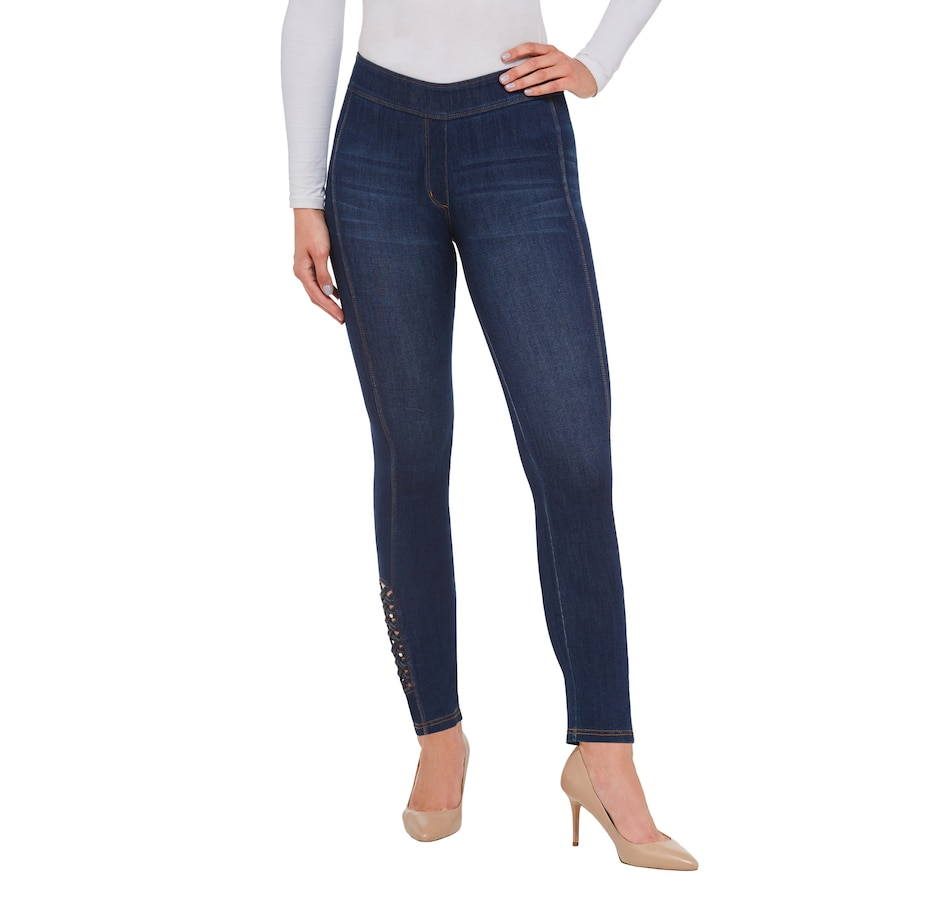 Image 401841_DID.jpg , Product 401-841 / Price $69.00 , Nygard Ankle Pant with Lattice Detail from Nygard Slims Fashion on TSC.ca's Fashion department