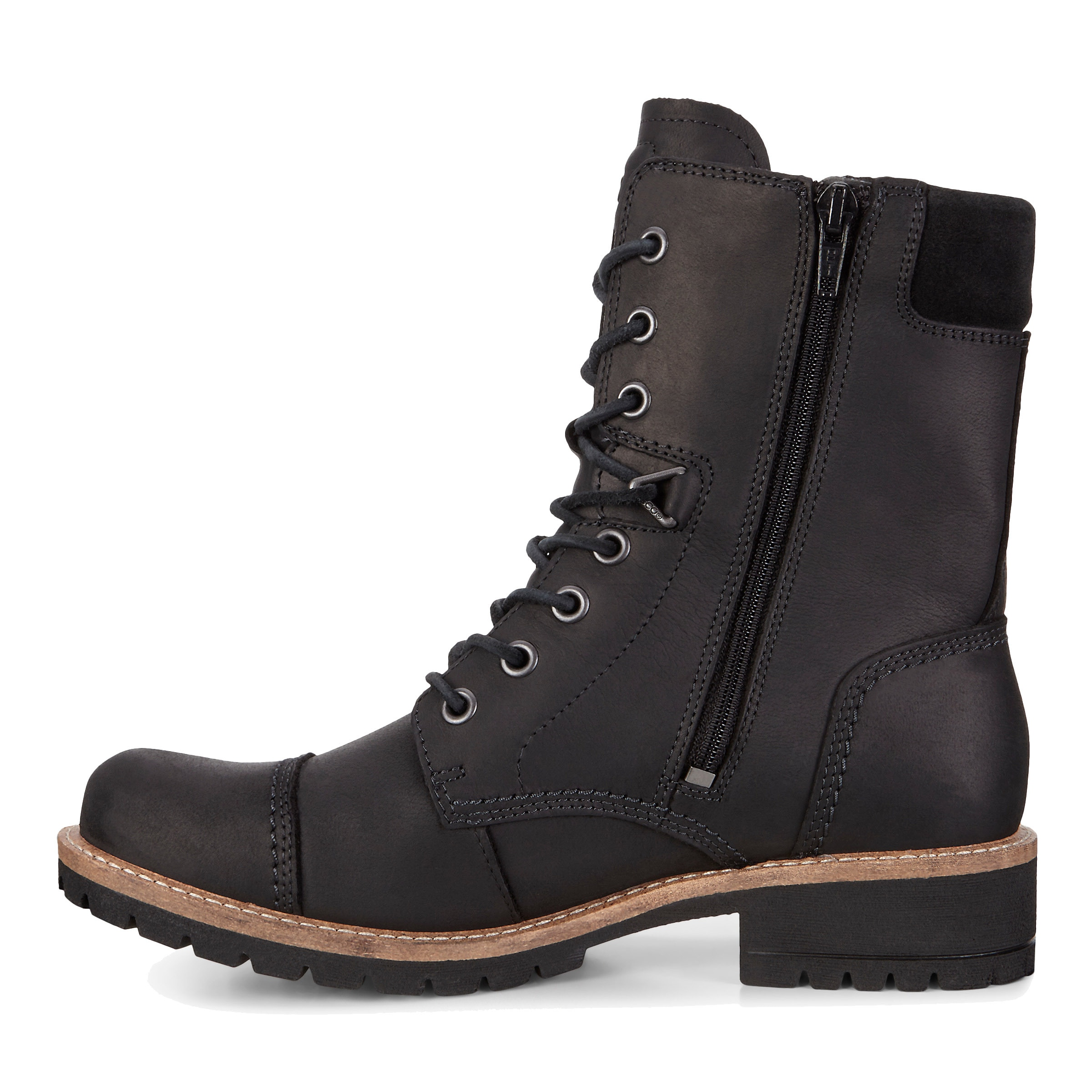 ecco lace up boots