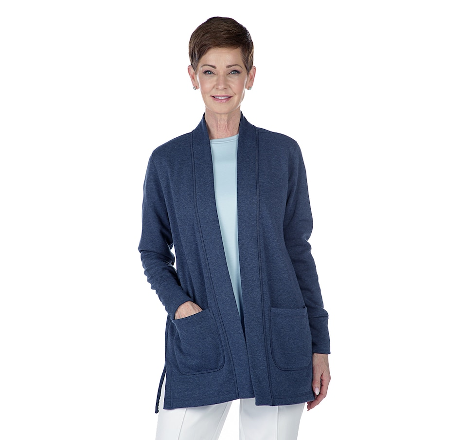 Image 402423_HRIG.jpg , Product 402-423 / Price $29.33 , Isaac Mizrahi Live! Soho Long Sleeve Open Front Jacket from Isaac Mizrahi Live! on TSC.ca's Fashion department