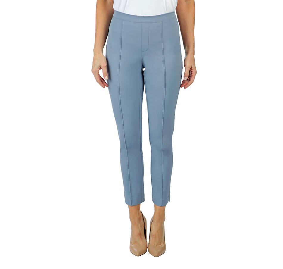 Image 402690_BLUGR.jpg , Product 402-690 / Price $79.99 , Isaac Mizrahi Live! 24/7 Stretch Ankle Length Pant with Pintuck from Isaac Mizrahi Fashion on TSC.ca's Fashion department