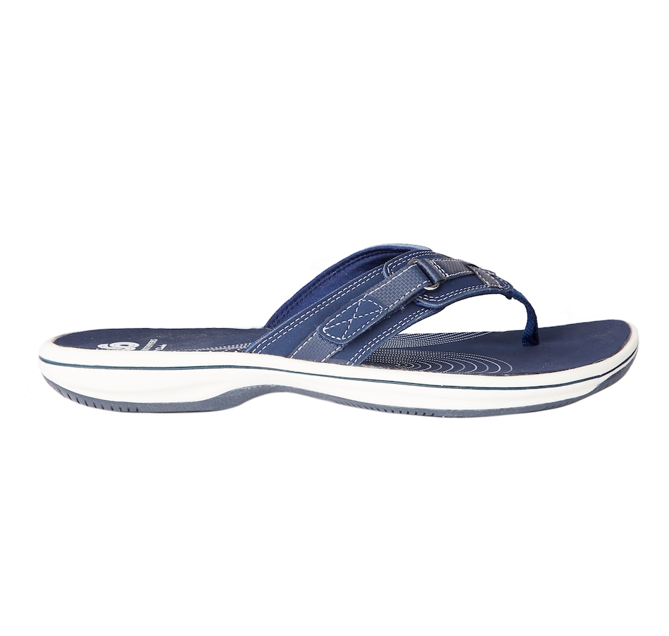 Image 404302_NVY.jpg , Product 404-302 / Price $65.00 , Clarks Breeze Sea Flip Flop from Clarks Footwear - Women on TSC.ca's Shoes & Handbags department
