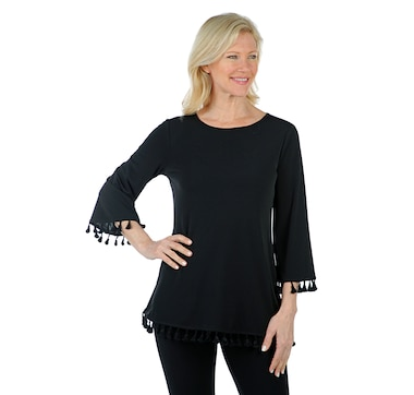 Nina Leonard Tunic with Tassels