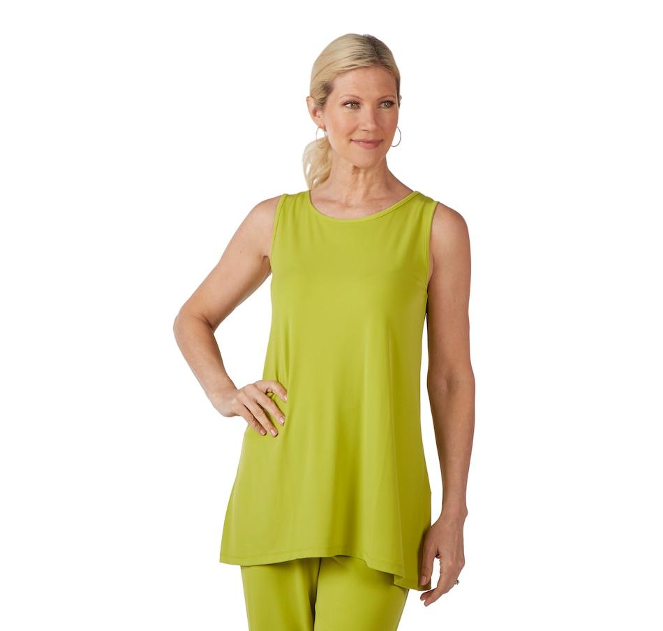 Image 404366_CTE.jpg , Product 404-366 / Price $36.88 , Kim & Co. Brazil Knit Curved Hem Sleeveless Tunic from Kim & Co. on TSC.ca's Fashion department