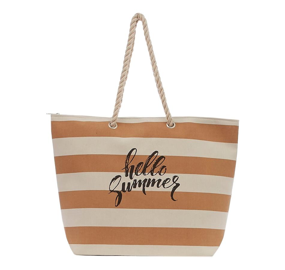 Image 404439_TPE.jpg , Product 404-439 / Price $15.99 , Aloha Canvas Beach Bag  on TSC.ca's Shoes & Handbags department