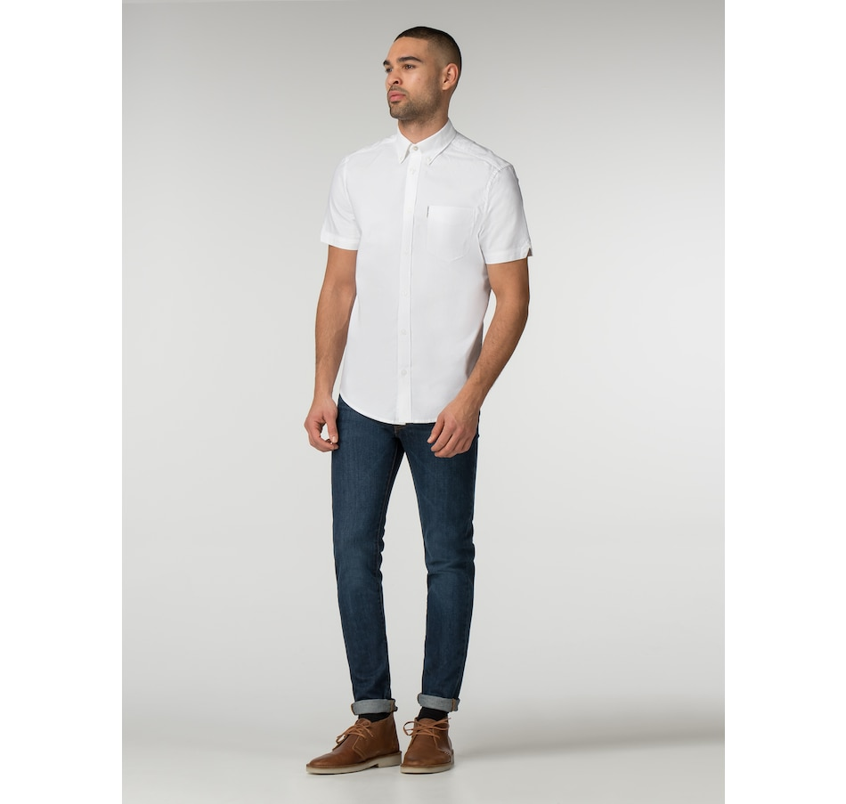 Image 404587_WHT.jpg , Product 404-587 / Price $44.88 , Ben Sherman Short Sleeve Oxford Shirt from Ben Sherman  on TSC.ca's Men's Shop department