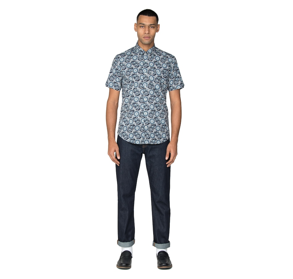 Image 404589_MID.jpg , Product 404-589 / Price $54.88 , Ben Sherman Short Sleeve Summer Paisley from Ben Sherman  on TSC.ca's Fashion department