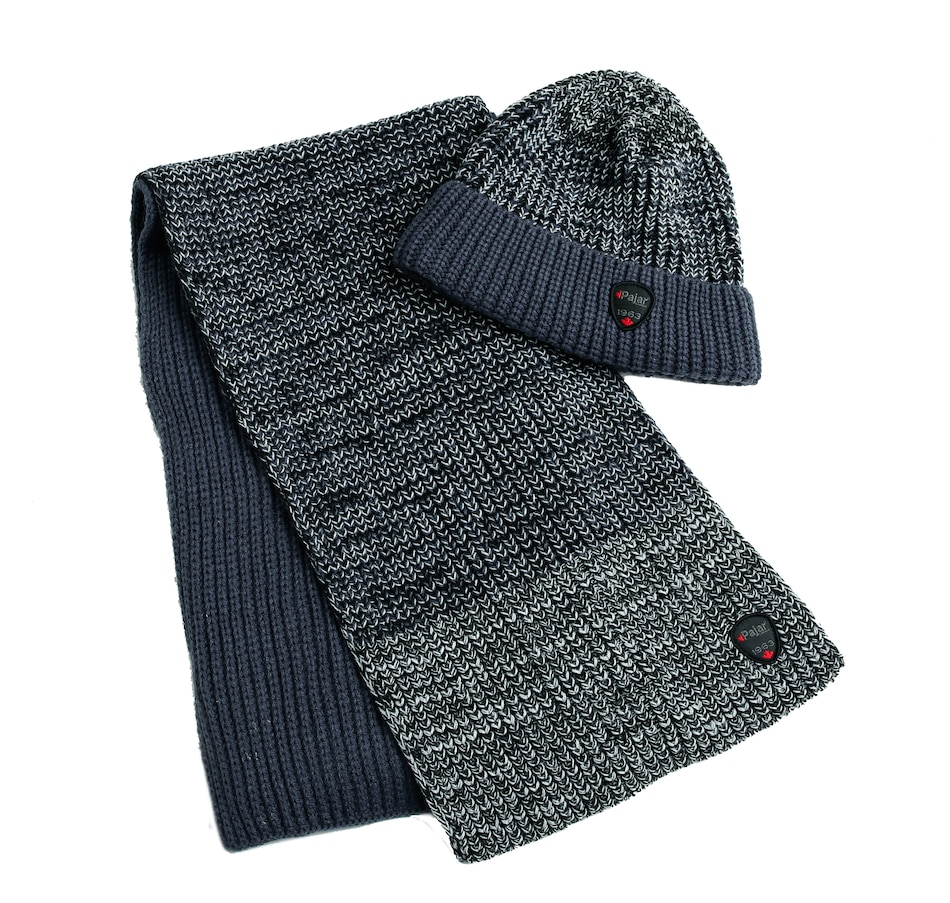 Image 404880_NVY.jpg , Product 404-880 / Price $49.33 , Pajar Outerwear Fernie Men's Rib Space Dyed Stripe Hat & Scarf from Pajar - Men on TSC.ca's Fashion department