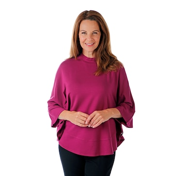Isaac Mizrahi Live! Lightweight French Terry Turtleneck Swing Top