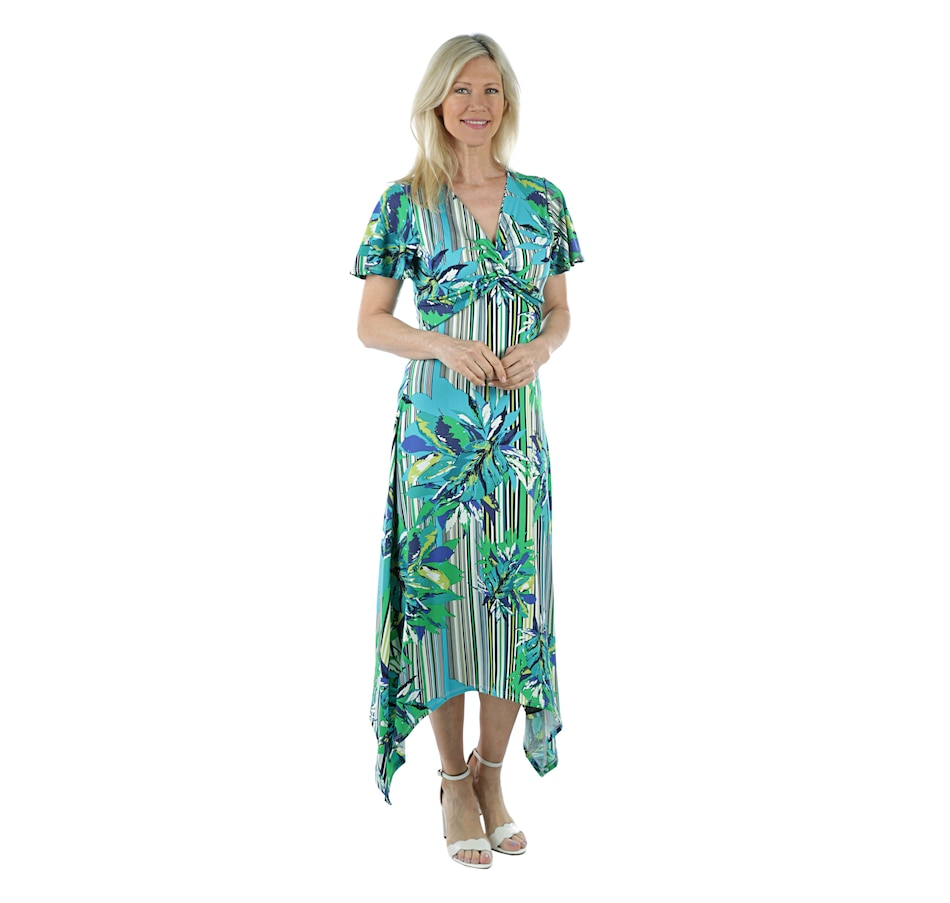 Image 405628_MUST.jpg , Product 405-628 / Price $39.33 , Artizan by Robin Barre Twist Front Maxi with Ruffle Sleeve from ARTIZAN by Robin Barré Fashion on TSC.ca's Fashion department