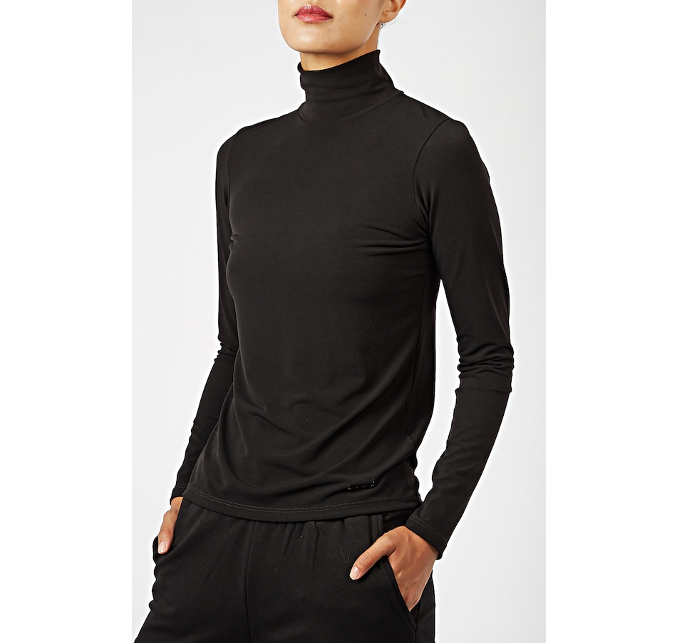 Image 406203_BLK.jpg , Product 406-203 / Price $118.00 , PINK TARTAN PT Mock Neck from Pink Tartan on TSC.ca's Fashion department