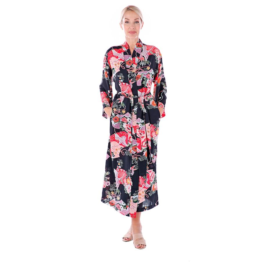 Image 406303_BKMU.jpg , Product 406-303 / Price $39.33 , N Natori Printed Satin Robe from N Natori Fashion on TSC.ca's Fashion department