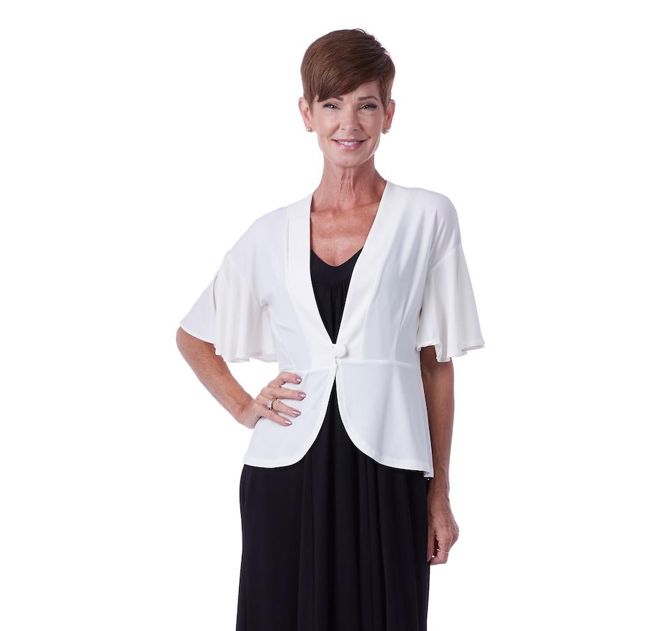 Image 406534_CRM.jpg , Product 406-534 / Price $29.33 , Marallis Flutter Sleeve Peplum Jacket from Marallis on TSC.ca's Fashion department