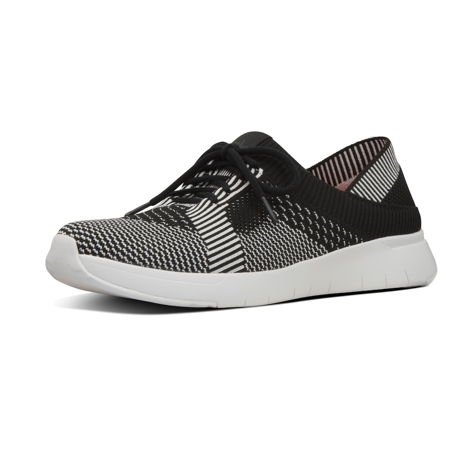 Image 406659_BKW.jpg , Product 406-659 / Price $59.33 , FitFlop Marbleknit Lace Up Sneaker from fitflop on TSC.ca's Shoes & Handbags department