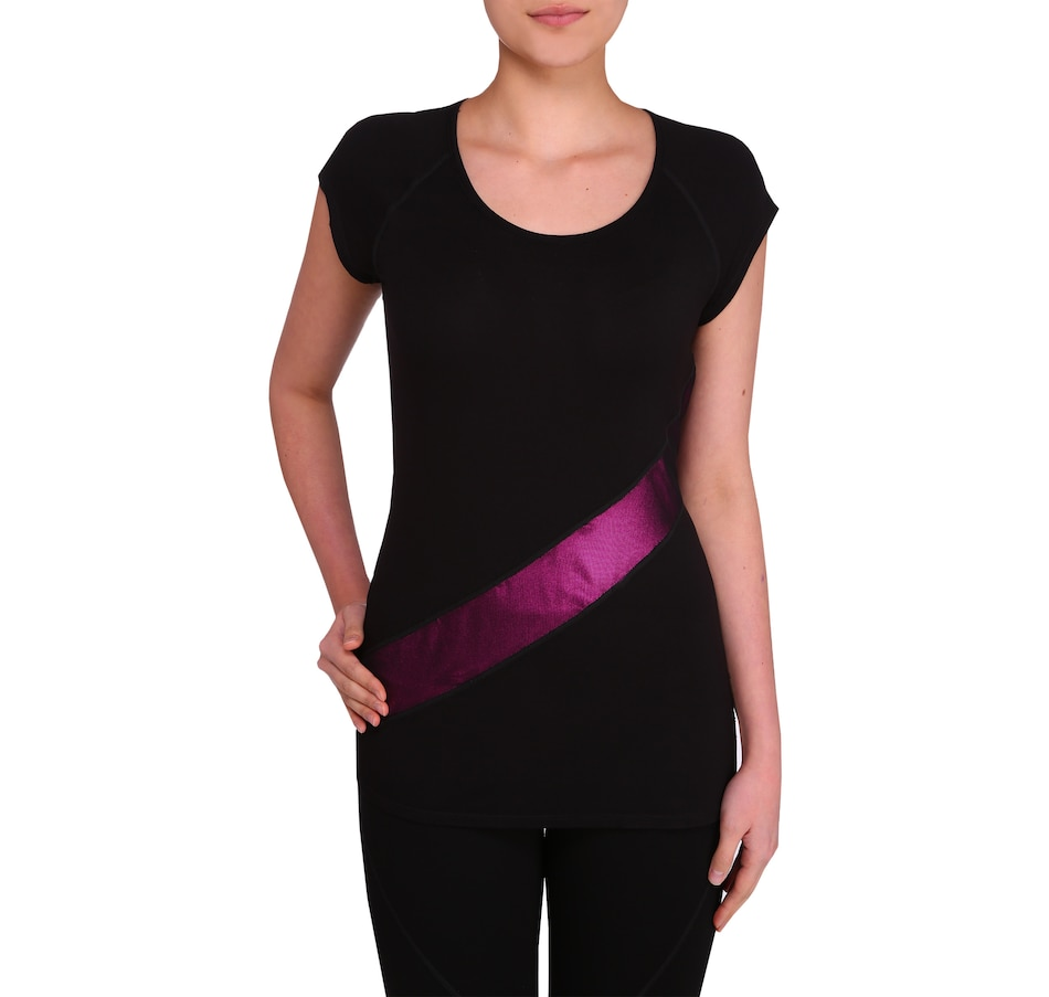 Image 406939_BLK.jpg , Product 406-939 / Price $44.99 , Nygard Performance Foil Racer Top from Nygard on TSC.ca's Fashion department