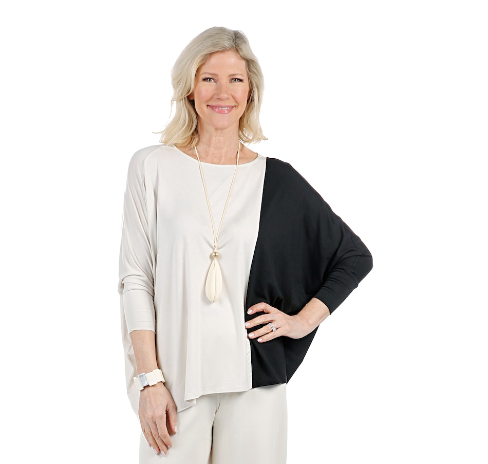 Image 407020_BLACS.jpg , Product 407-020 / Price $69.90 , WynneLayers Scoop Neck Drape Top from MarlaWynne on TSC.ca's Fashion department