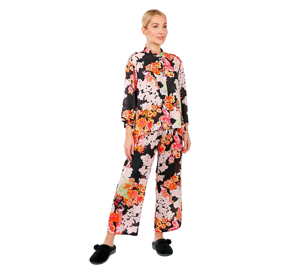 Image 407036_BKMU.jpg , Product 407-036 / Price $74.88 , N Natori Mandarin Collar Silky PJ Set from N Natori Fashion on TSC.ca's Fashion department