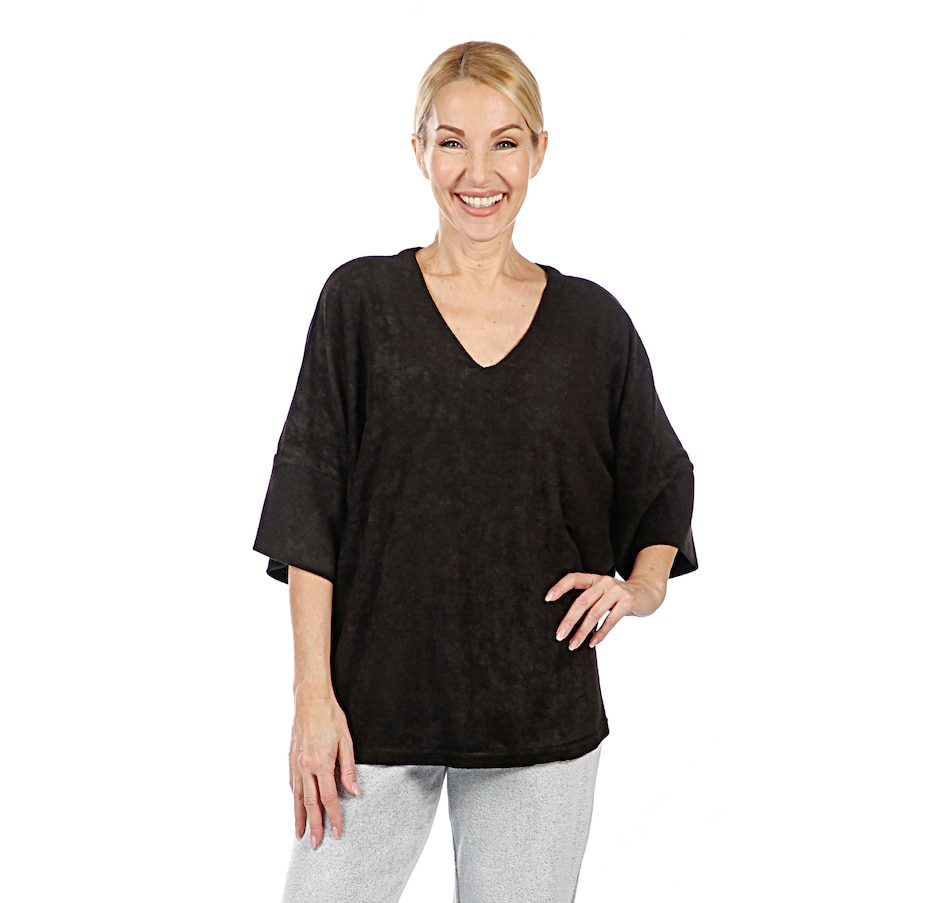 Image 407046_BLK.jpg , Product 407-046 / Price $70.00 , N Natori Terry Lounge Top from N Natori on TSC.ca's Fashion department