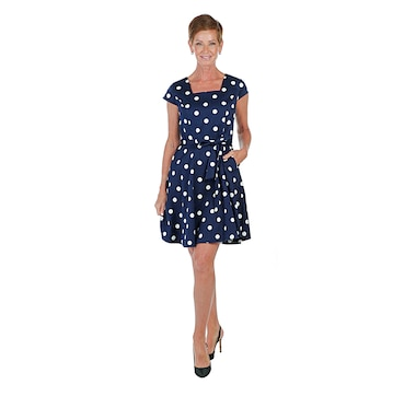 Isaac Mizrahi Live! Cotton Satin Dress