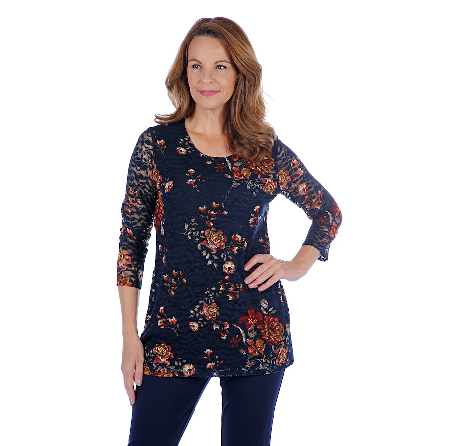 Image 407190_MDB.jpg , Product 407-190 / Price $39.33 , Mr. Max Romance Lace Knit Lined Top from Mr. Max on TSC.ca's Fashion department