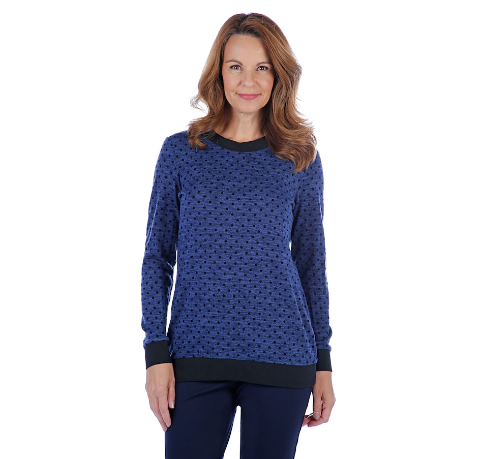 Image 407192_BLU.jpg , Product 407-192 / Price $62.99 , Mr. Max Cara Knit Polka Dot Sweater from Mr. Max on TSC.ca's Fashion department