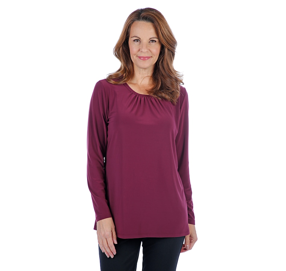 Image 407194_WIN.jpg , Product 407-194 / Price $29.88 , Mr. Max Brazil Knit Top with Shirred Neckline from Mr. Max on TSC.ca's Fashion department