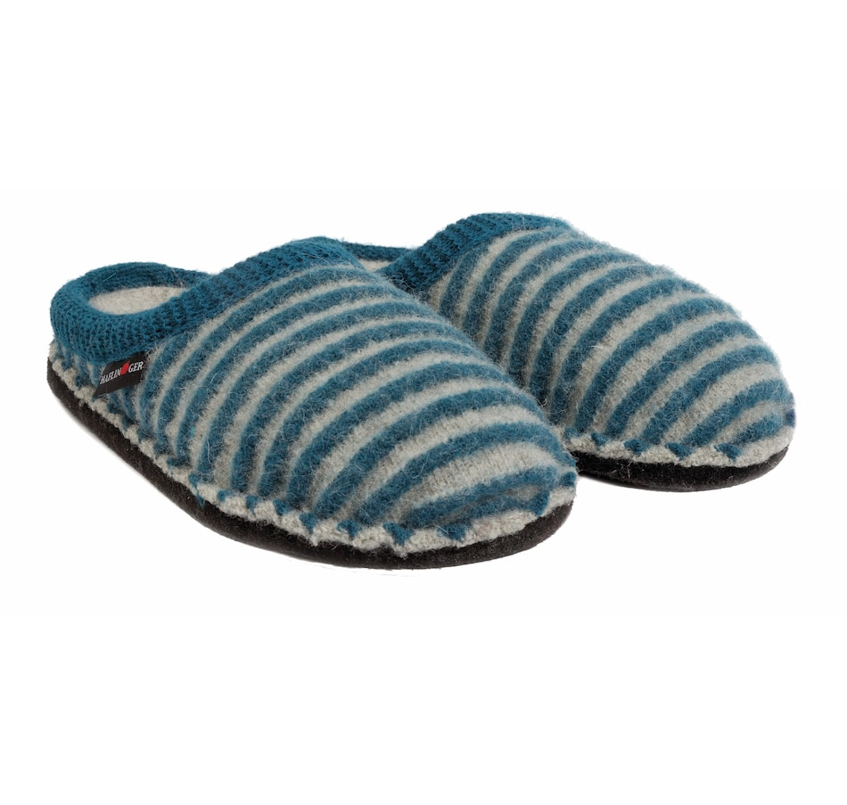 Image 407230_GRU.jpg , Product 407-230 / Price $69.88 , Haflinger Ladies Cathy Stripe Slippers from Haflinger - Women on TSC.ca's Shoes & Handbags department