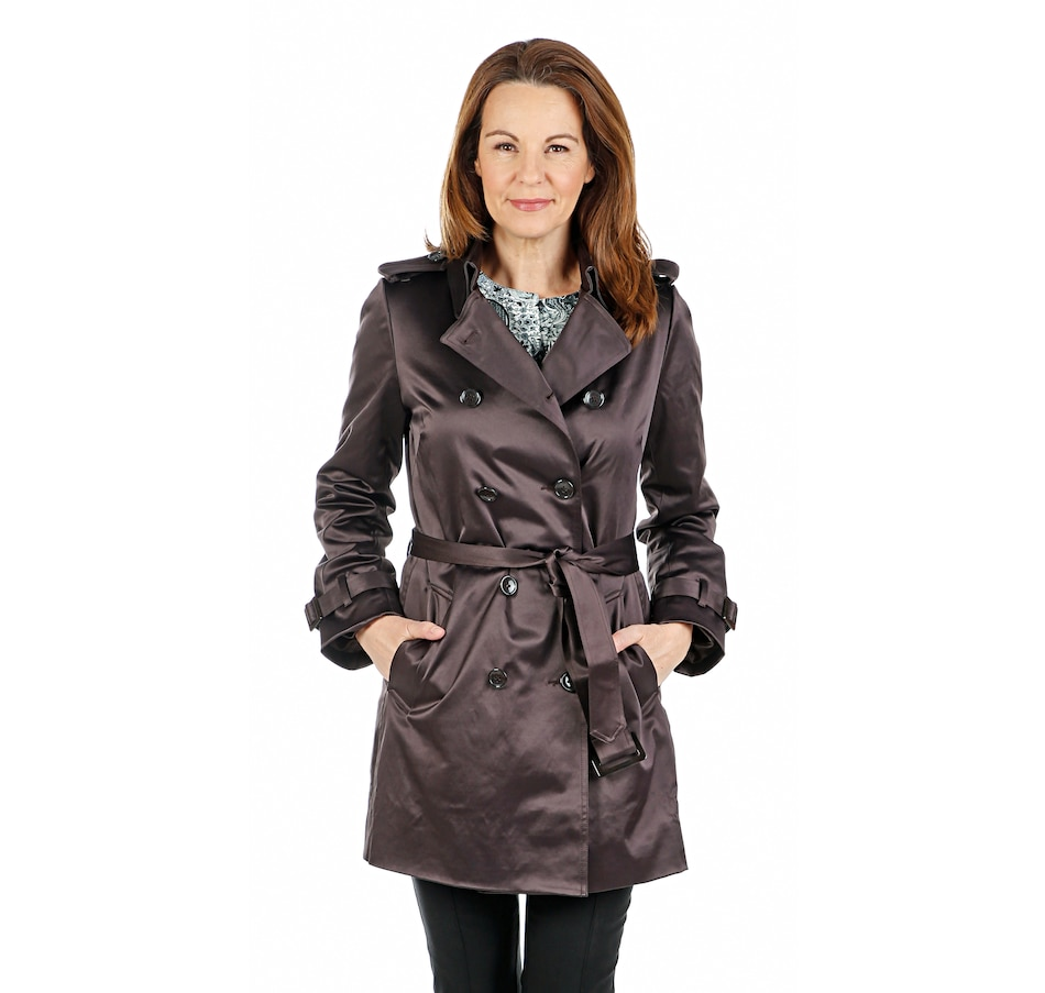 Image 407254_ESP.jpg , Product 407-254 / Price $99.33 , Joan Rivers Classics Collection Classic Trench Coat with Belt from Joan Rivers on TSC.ca's Fashion department