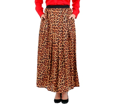 Joan Rivers Classics Collection Leopard Maxi Skirt
