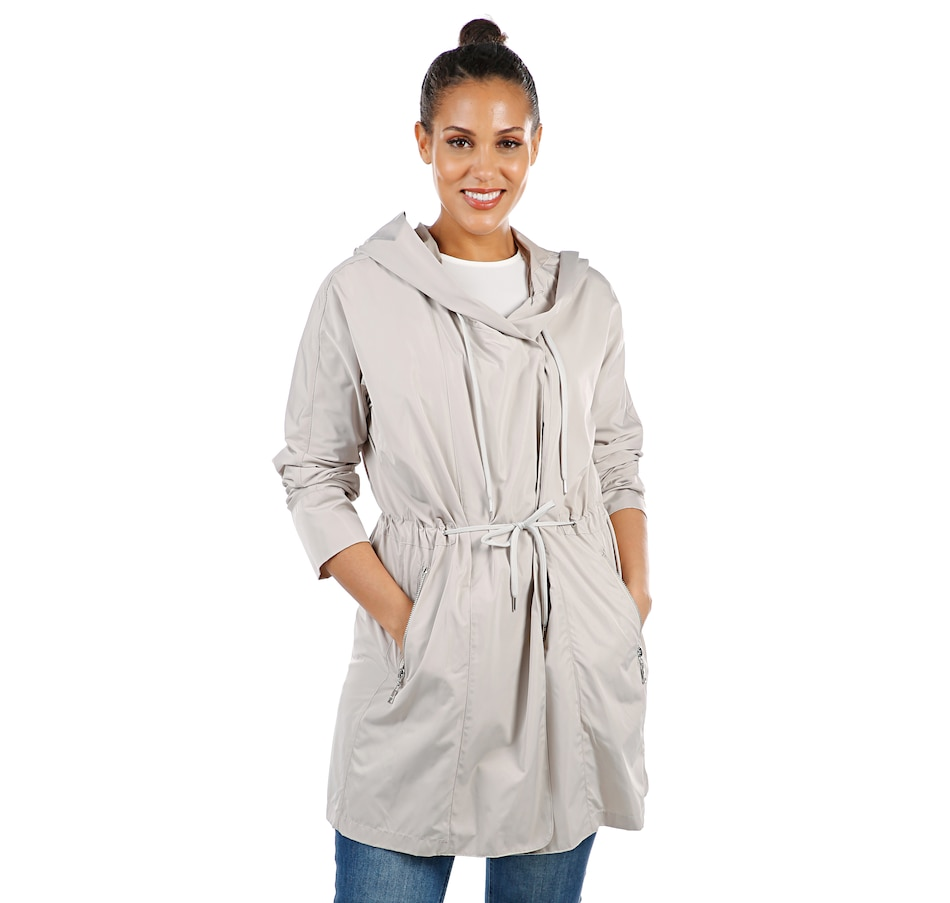 Image 407300_CRM.jpg , Product 407-300 / Price $69.33 , Nuage Lisa Packable Travel Coat with Hood from Nuage on TSC.ca's Fashion department