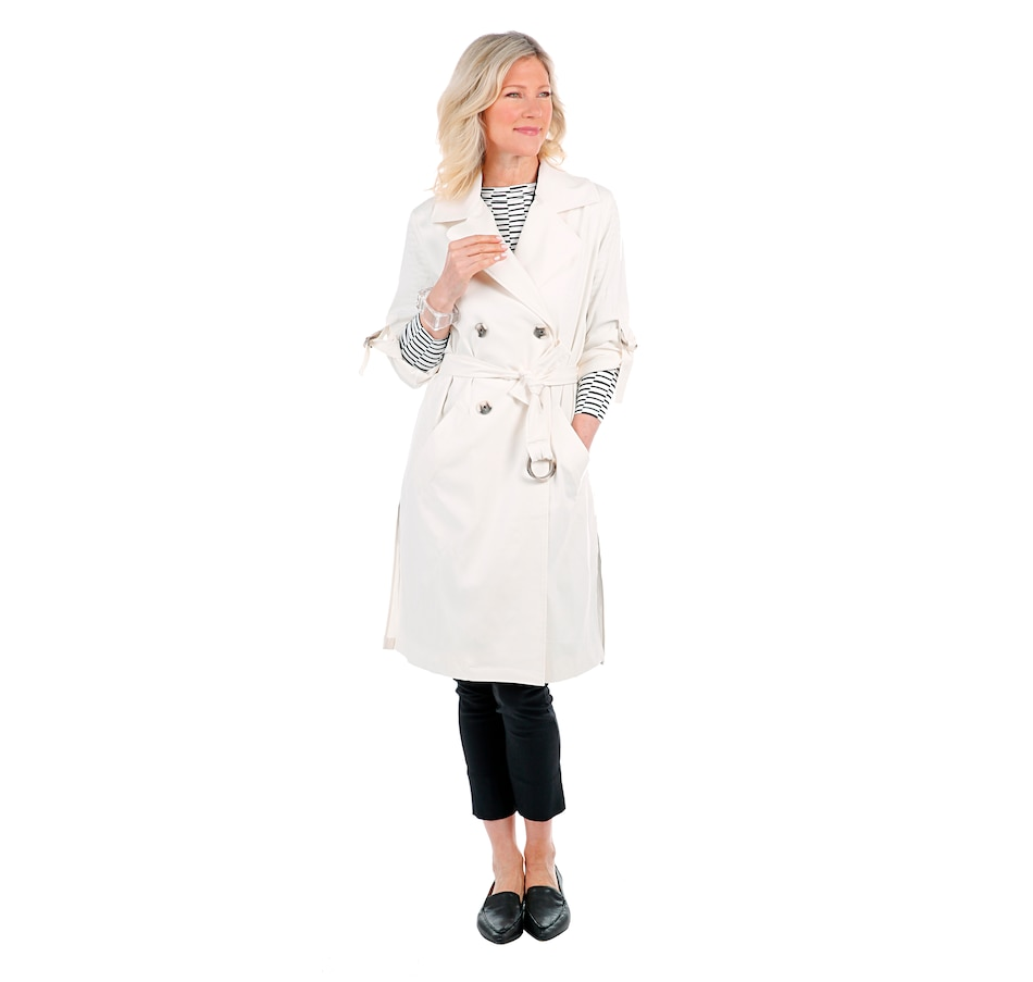 Image 407311_CNVS.jpg , Product 407-311 / Price $164.88 , MarlaWynne Trench Jacket with Removable Sash from MarlaWynne on TSC.ca's Fashion department