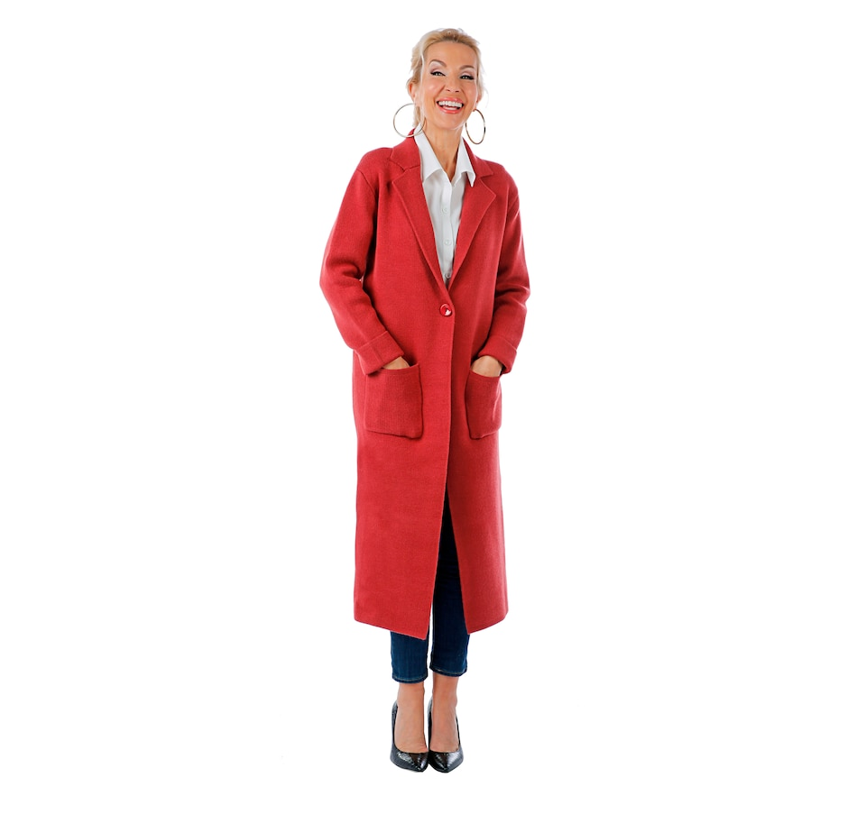 Image 407375_ARO.jpg , Product 407-375 / Price $204.00 , Brian Bailey Notch Collar Button Front Cardigan from Brian Bailey Fashions on TSC.ca's Fashion department