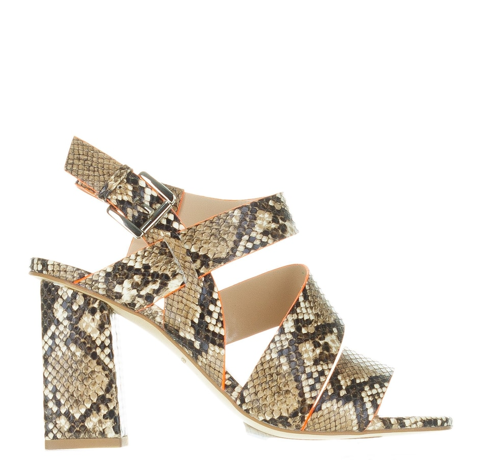 Image 407479_COF.jpg , Product 407-479 / Price $125.00 , Kendall & Kylie Barlena Snake Print Sandal from Kendall & Kylie on TSC.ca's Shoes & Handbags department