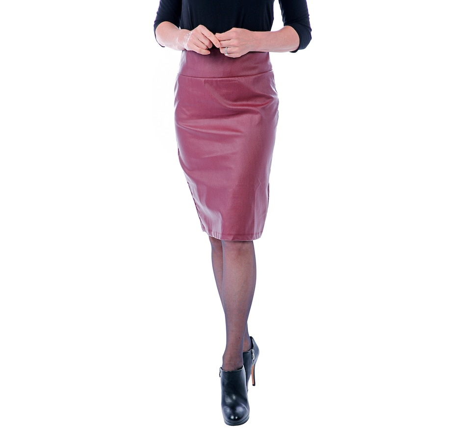 Image 407583_EGB.jpg , Product 407-583 / Price $49.88 , Artizan by Robin Barré Faux Leather Pull On Skirt from ARTIZAN by Robin Barré Fashion on TSC.ca's Fashion department