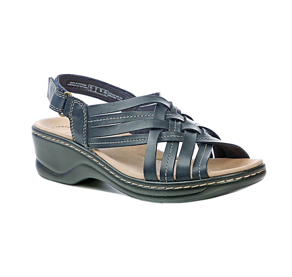 Image 407953_NVY.jpg , Product 407-953 / Price $110.00 , Clarks Lexi Carmen Wedge Sandal from collection by Clarks on TSC.ca's Shoes & Handbags department