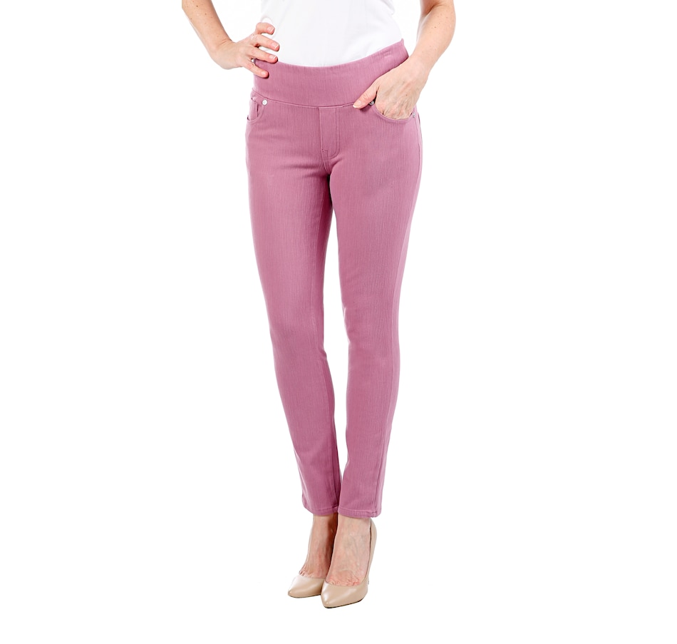 Image 407956_PUR.jpg , Product 407-956 / Price $49.99 , Diane Gilman Knit Twill Denim Jean from DG2 by Diane Gilman on TSC.ca's Fashion department