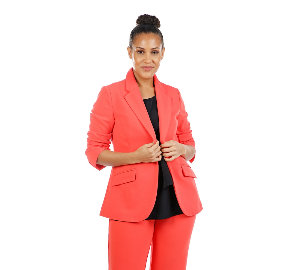 Image 407970_CRL.jpg , Product 407-970 / Price $109.90 , Diane Gilman Printed Stretch Crepe Blazer from DG2 by Diane Gilman on TSC.ca's Fashion department